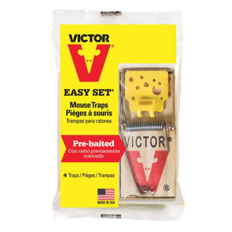 Victor Mouse Trap - Plastic Pan - Two traps per package