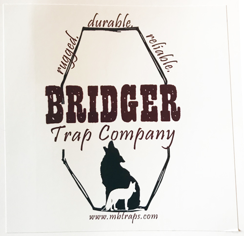 Bridger Traps Sticker  - Out of Stock